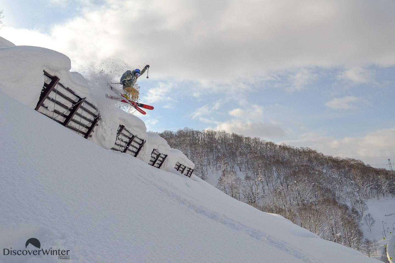 Jackson Sloss sending it off an avalanche barrier