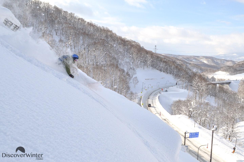 Jackson Sloss shredding the deep pow in the local Hokkaido backcountry
