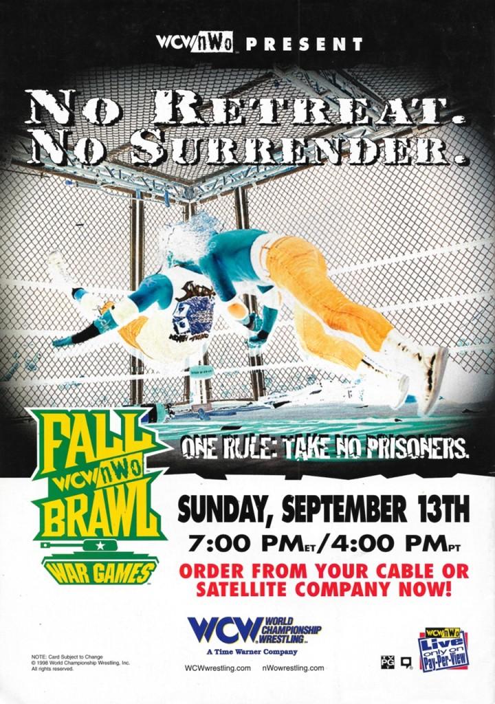 WCW Falll Brawl 1998: War Games Advert