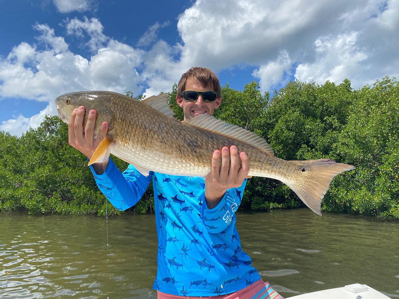 Davis Hasson with his Redfish