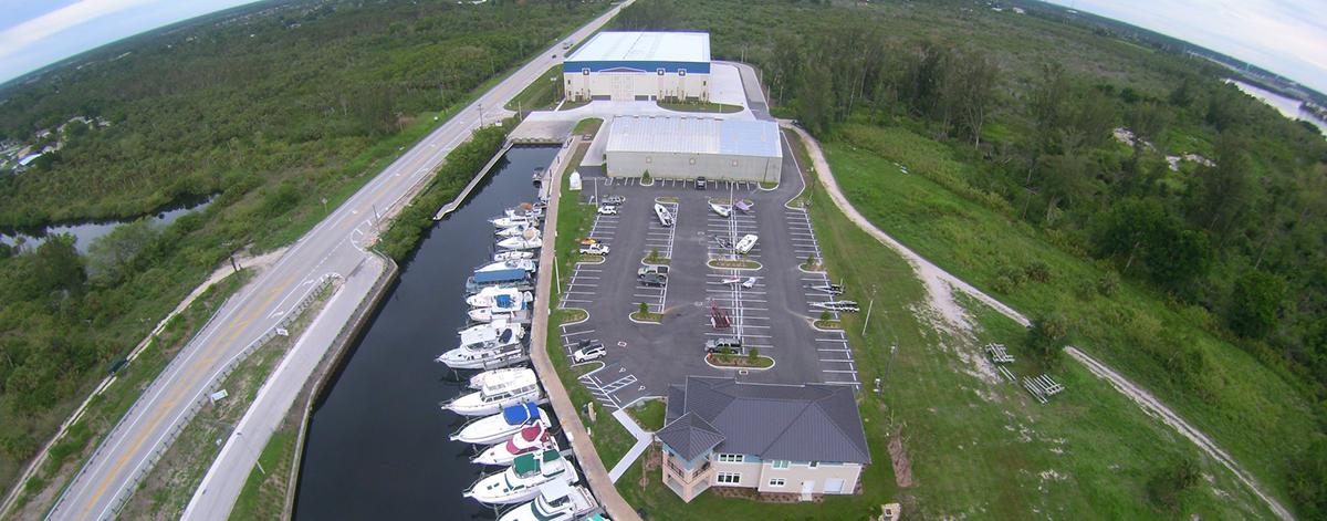 Ariel view of Sweetwater Landing Marina