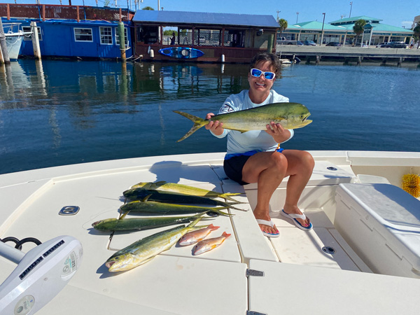 Vicki with a few catches