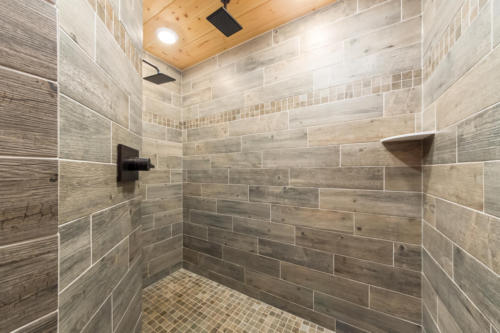 Master bath - custom walk-in shower w/ dual rainmaker showerheads