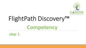 Additional help on completing the competency step of FlightPath Discovery