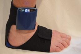 StimMed StimSox worn on the foot