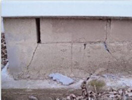 Foundation before helical piles | Montgomery, AL