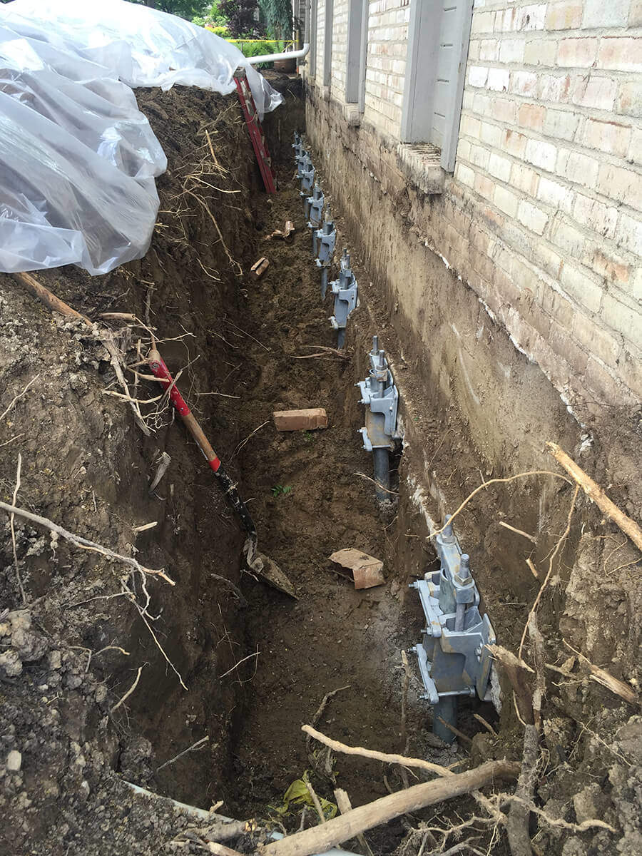 Helical Pile Installer   Local Piering Company   Foundation RESQ