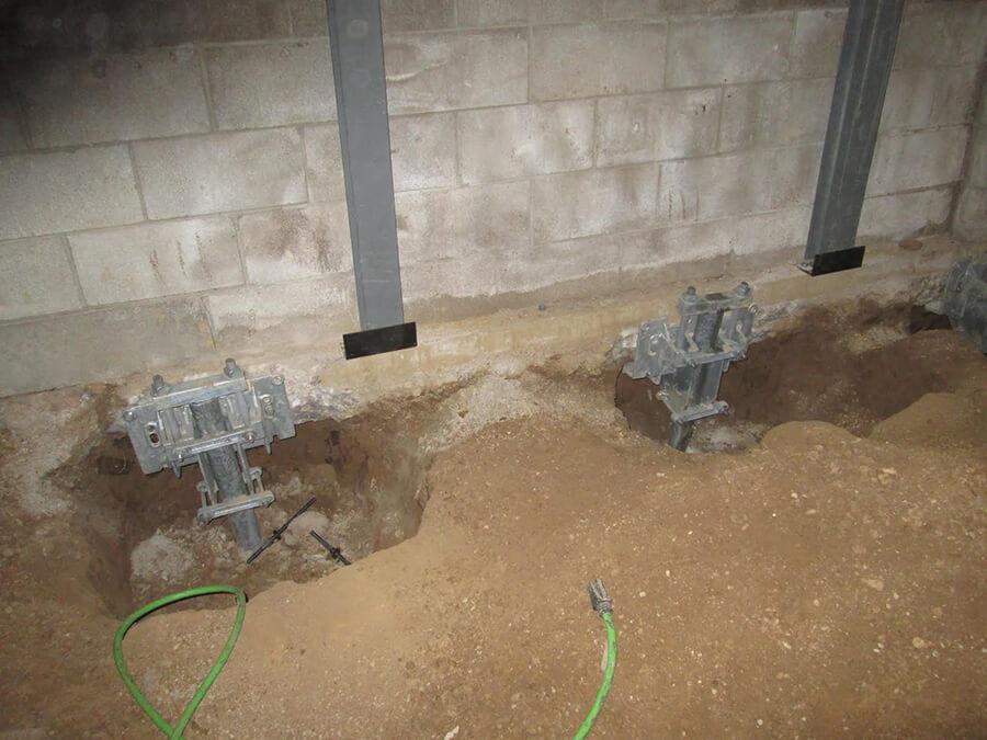 Interior Pile Installation   Local Structural Repair Company   Foundation RESQ