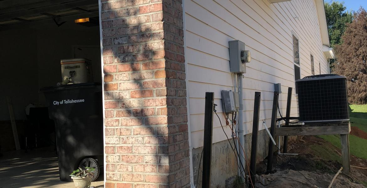 Before Foundation Settlement - Foundation ResQ in Tallahassee, FL32311   Foundation ResQ
