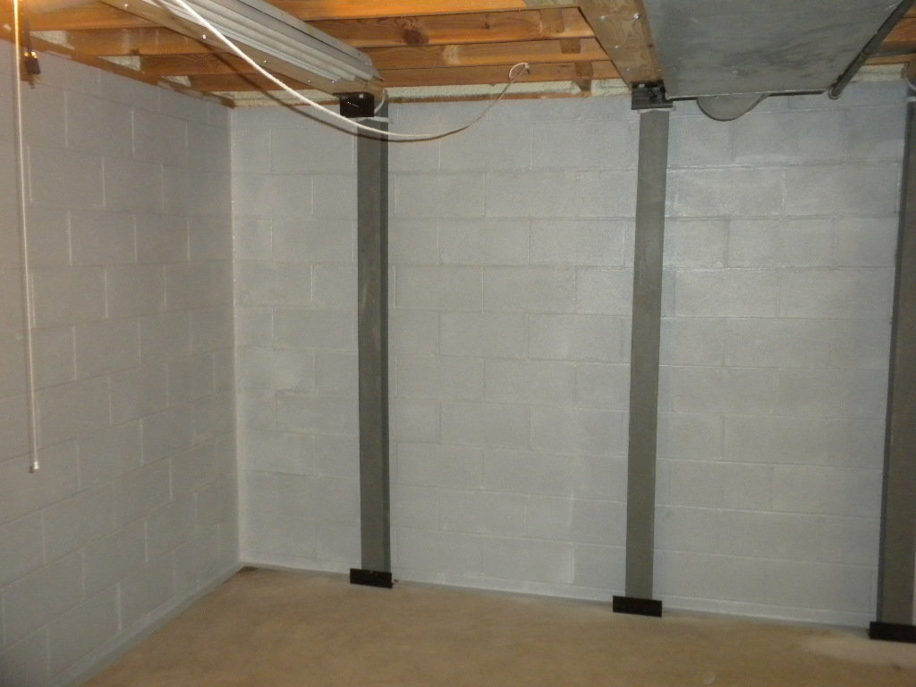 Bowing Walls   Steal I-Beam Support System   Local Foundation Company   Foundation ResQ