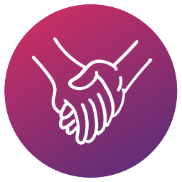 icon with hand shake