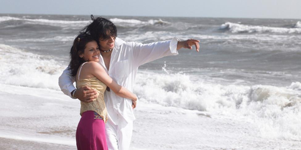 couple on beach image