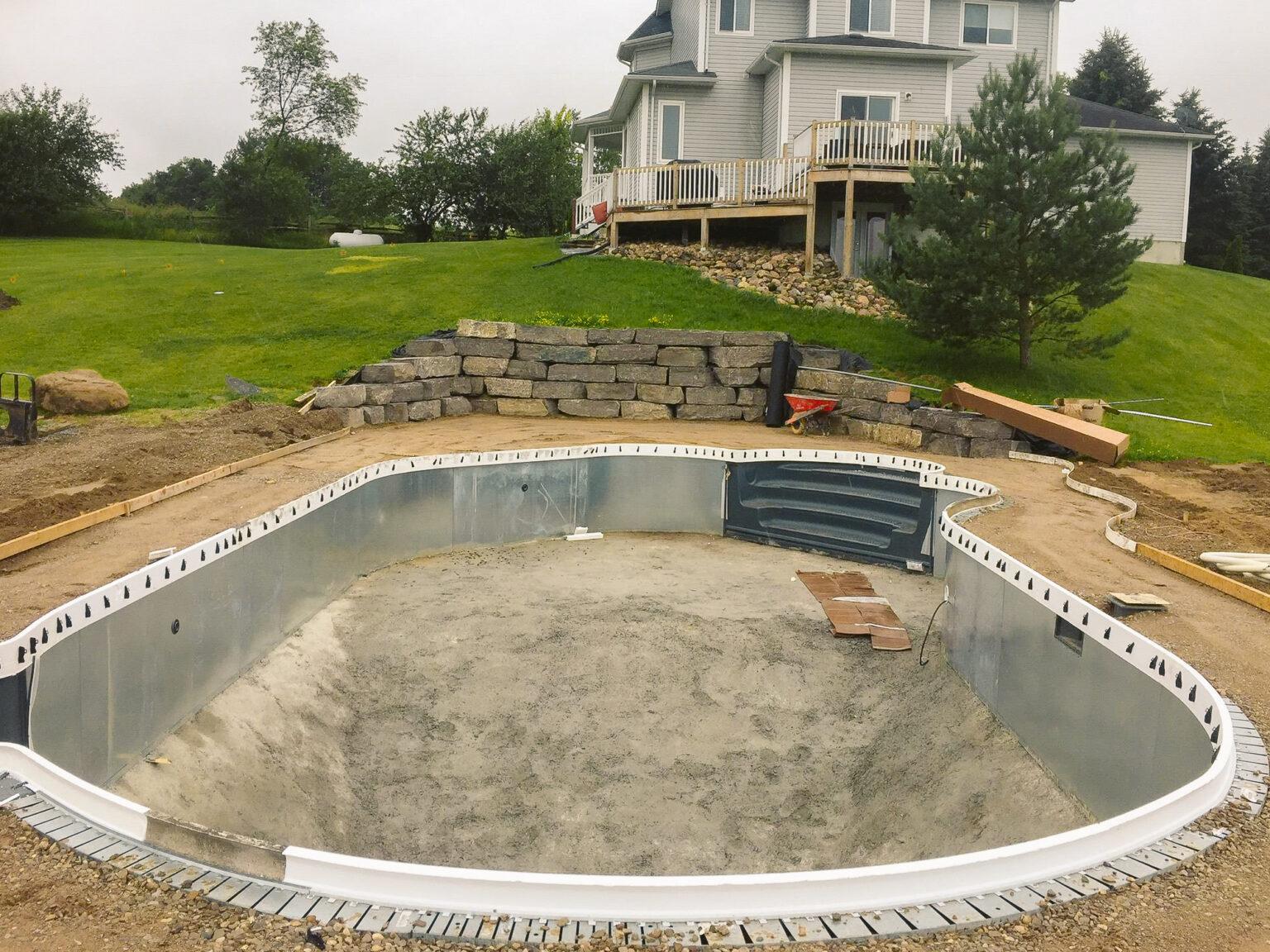 Pool building wilson digging clearing