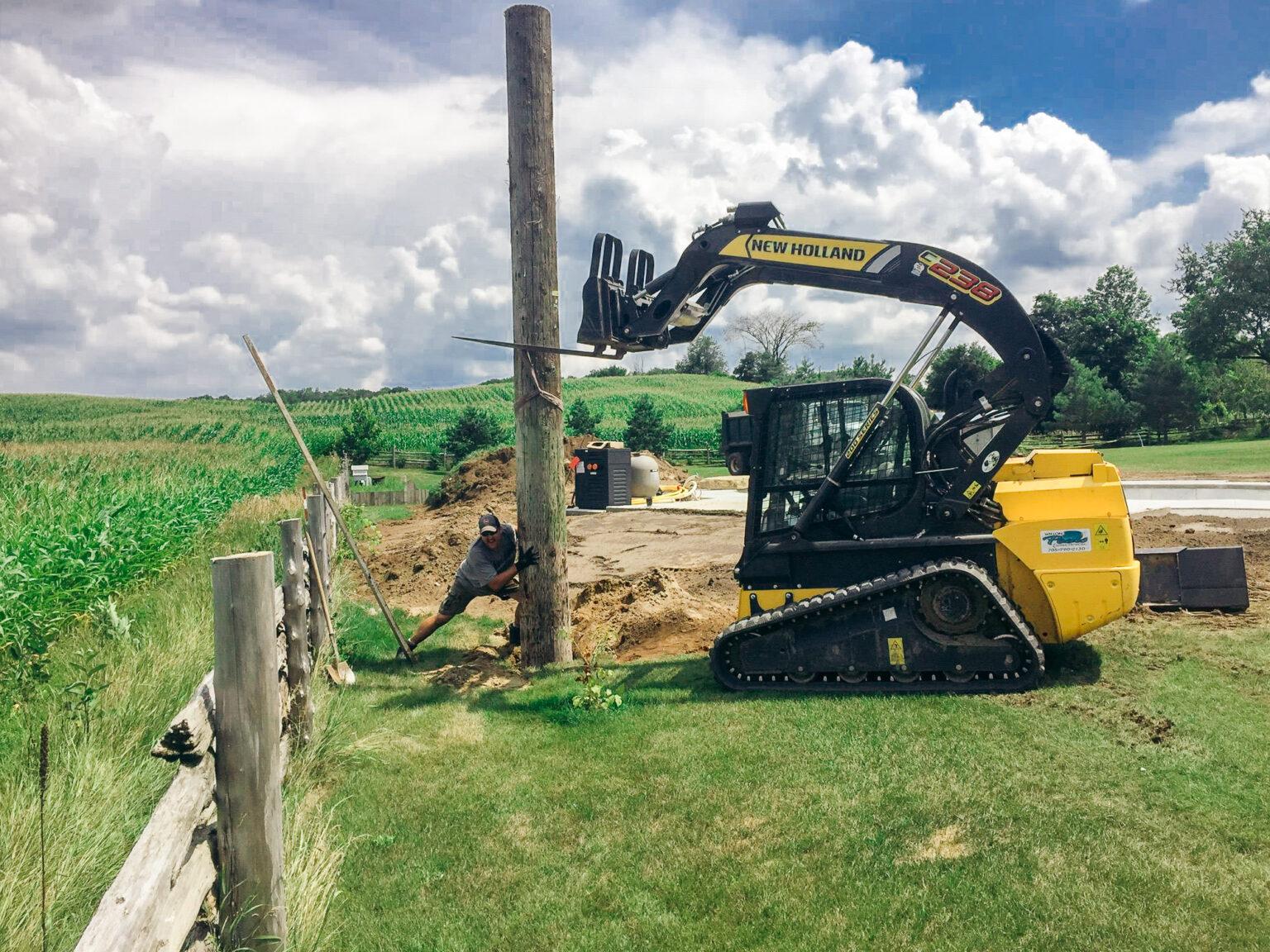 contracting skid steer heavy equipment wilson pools