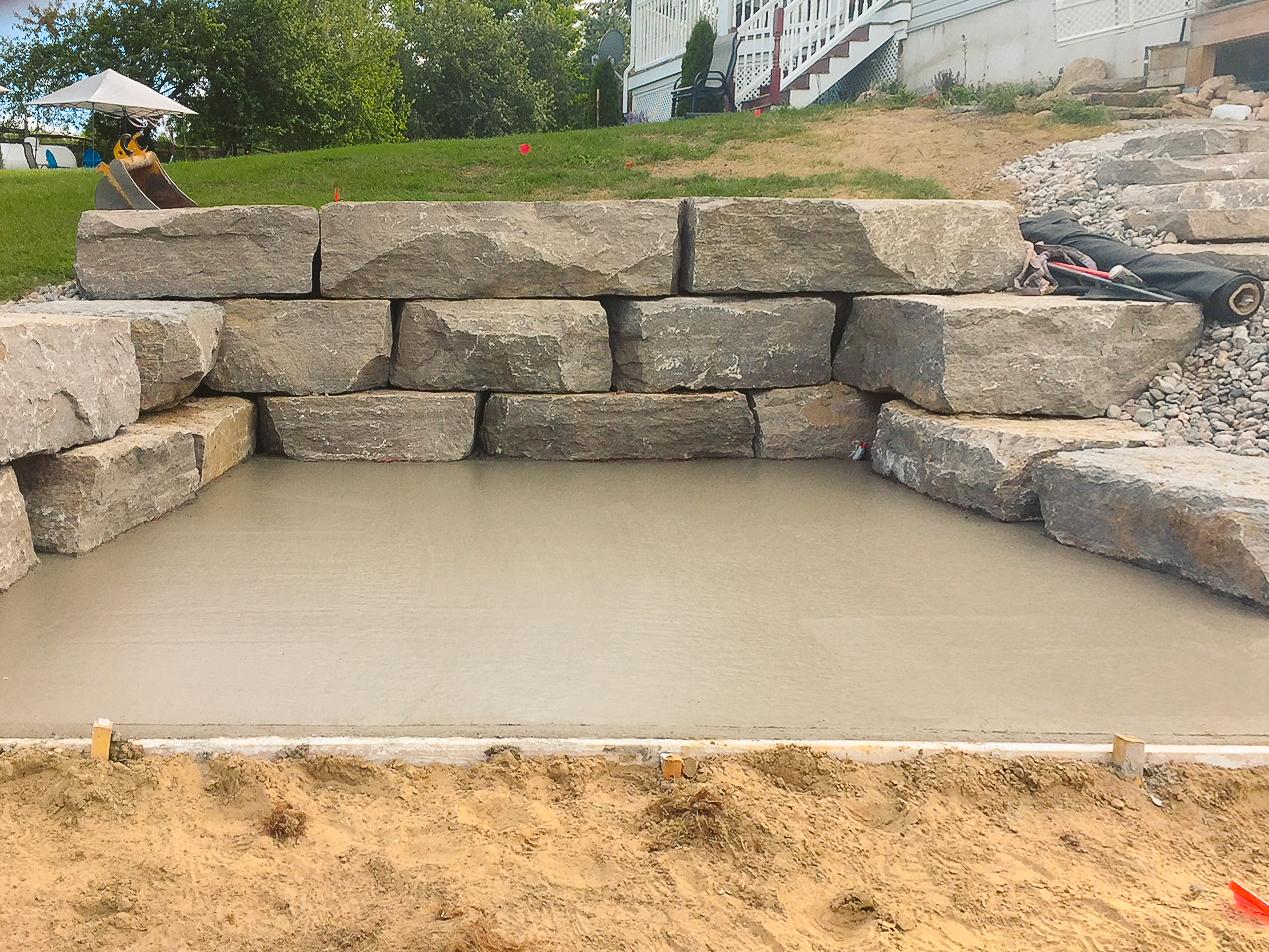 landscaping rocks concrete wilson pools