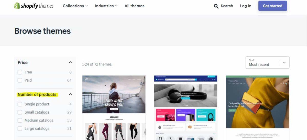 eCommerce website design theme