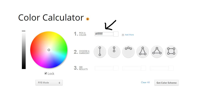 ecommerce website design color scheme