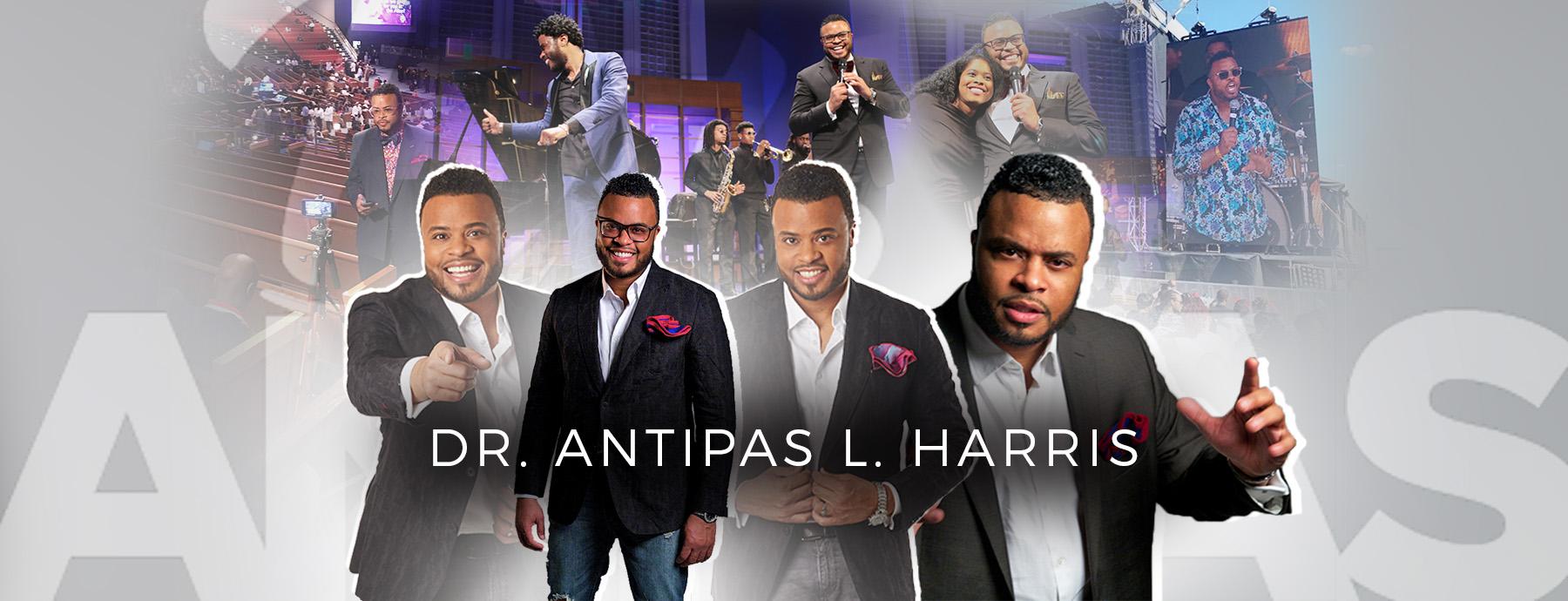 Collage of Antipas Harris Photos