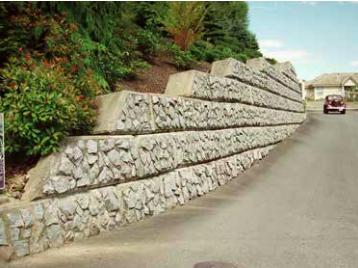 Granite block finish