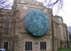 The Healing of the Nations sculpture at Blackburn Cathedral.
