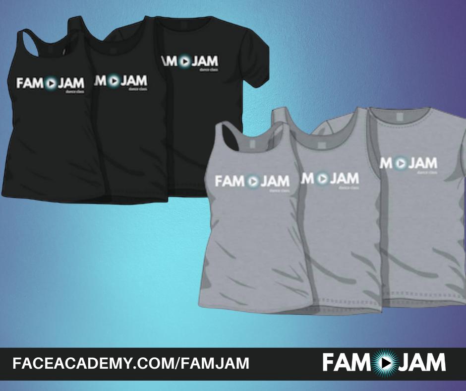 FAM Jam Merch tanks and tees