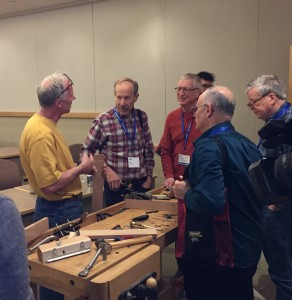 Chatting with attendees after the workshop.