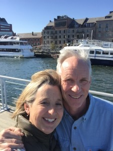 With my best friend and business partner at the Long Warf in Boston