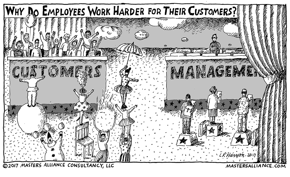 Masters Alliance Why Do Employees Work Harder For Customers Than the Boss?