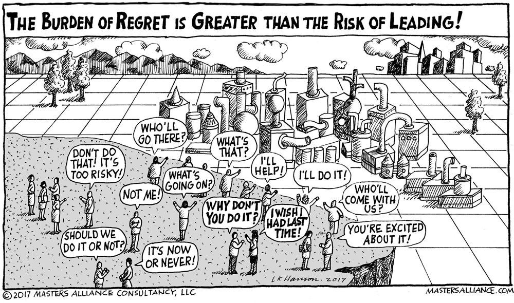 Masters Alliance The Burden of Regret is Greater Than the Risk of Leading!