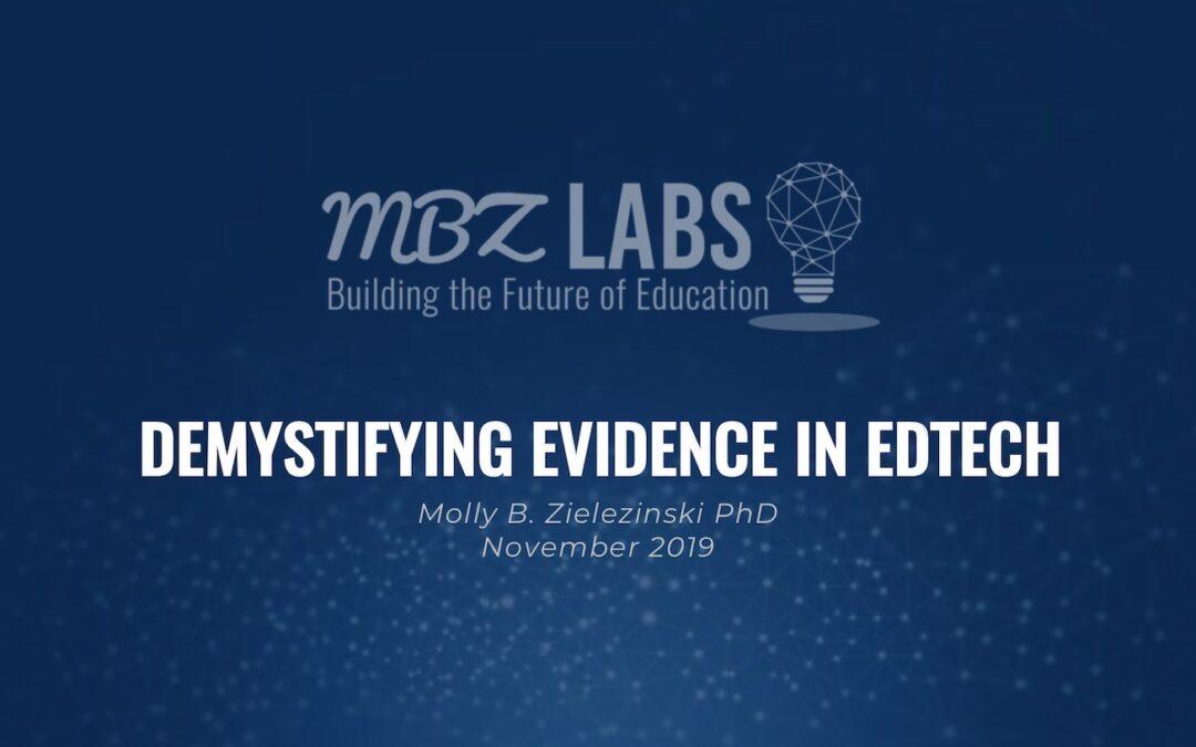 Demystifying Evidence in EdTech