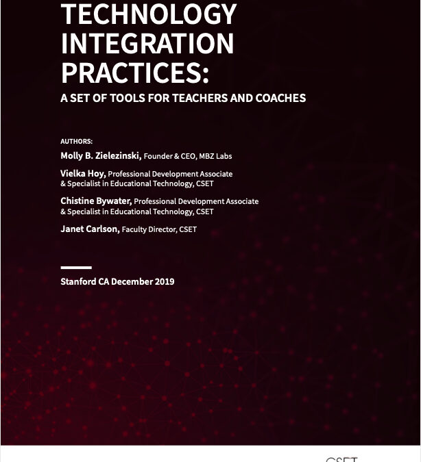 Technology Integration Practices: A Set of Tools for Teachers and Coaches