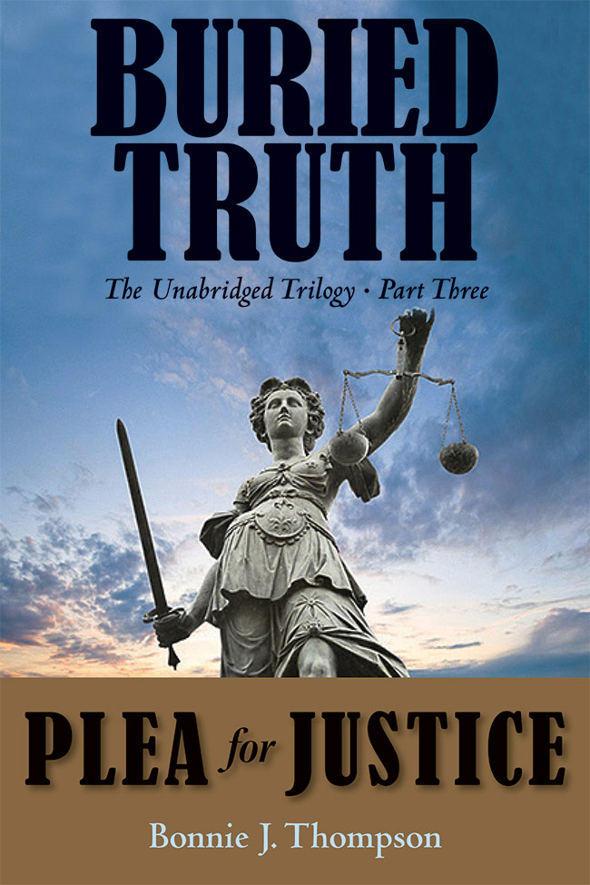 A front cover for the Part Three of Buried Truth book