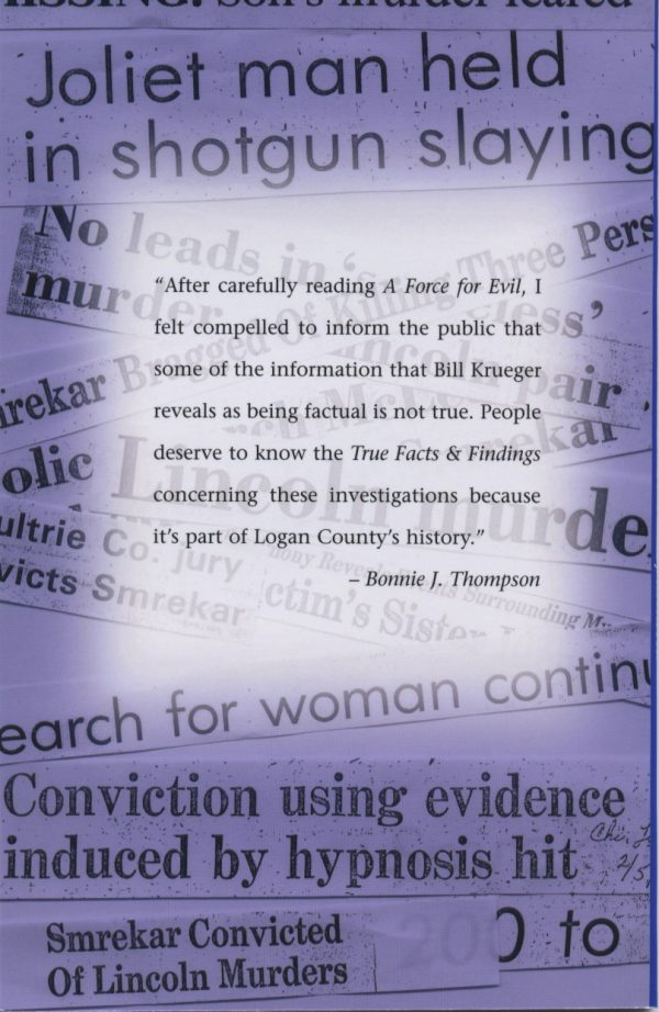 A back cover for the Truth Facts & Findings book