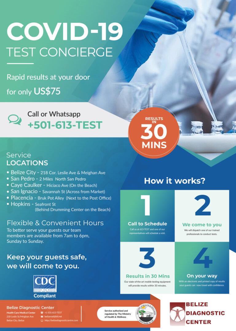 Belize Covid testing clinics