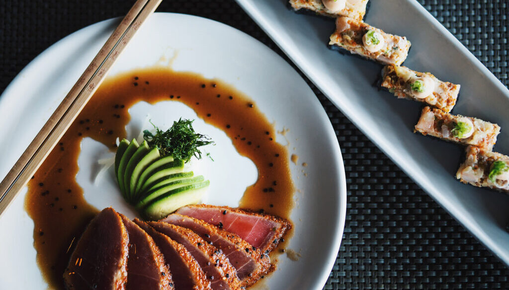 Fresh Sushi With Sweet Sauce