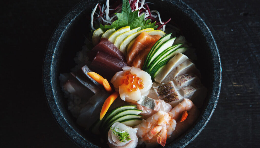 Sushi With Rice and Vegetables
