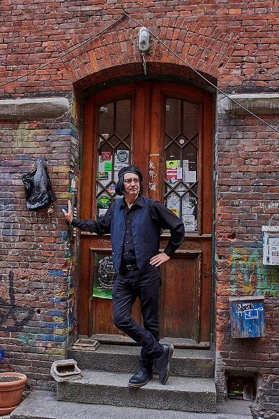 Peter Forrest at the John Lennon doorway in Hamburg