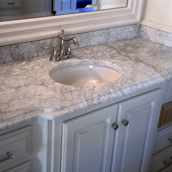 Carrara Marble Bathroom Countertop