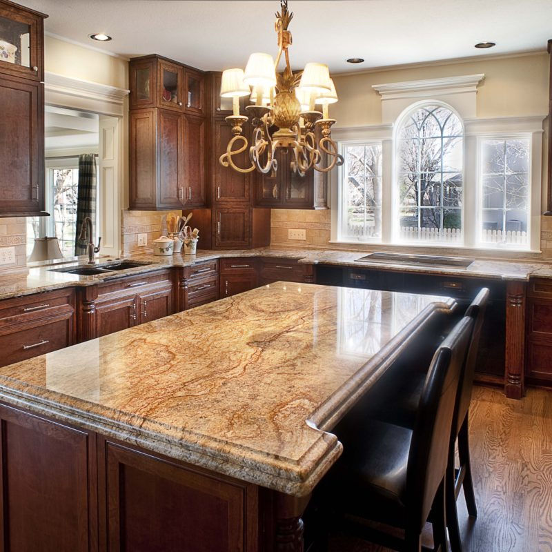 Exotic Granite Kitchen Island