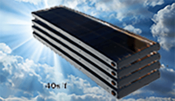 """Skyline 5"" 40 S/F Platinum Solar Water Heating System. Solar Water Systems. SolarRoofs.com"