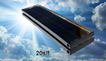 Skyline 20-square-foot-solar-water-collector by SolarRoofs.com ACR Solar