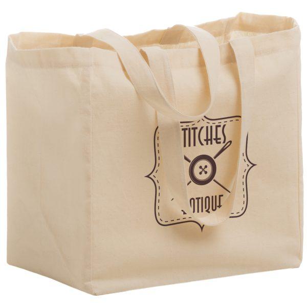 Cotton Canvas Grocery Bag (12X8X13)