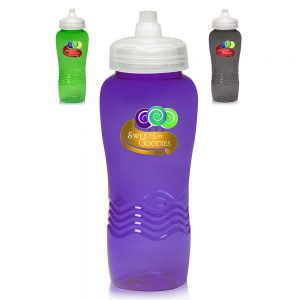 26 oz Wave Plastic Water Bottles