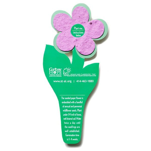 Seed Paper Flower Bookmark
