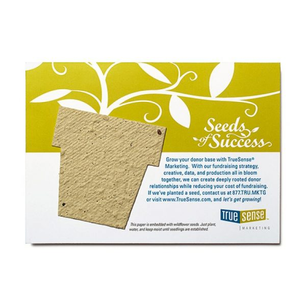 Seed Paper Shape Postcard Large