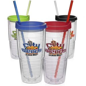 24 oz Double Wall Solid Clear Orbit Acrylic Tumblers APG150