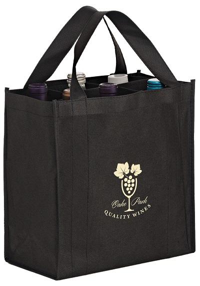 VINER66 Bottle Non Woven Wine Tote Bag