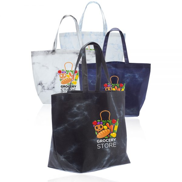 Marble Non Woven Tote Bags ATOT253