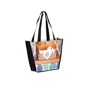 SUB12410 Dye Sublimation PET Non Woven Sublimated Trapezoid Tote Bag