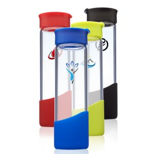 18 oz Manchester Glass Water Bottles APG238
